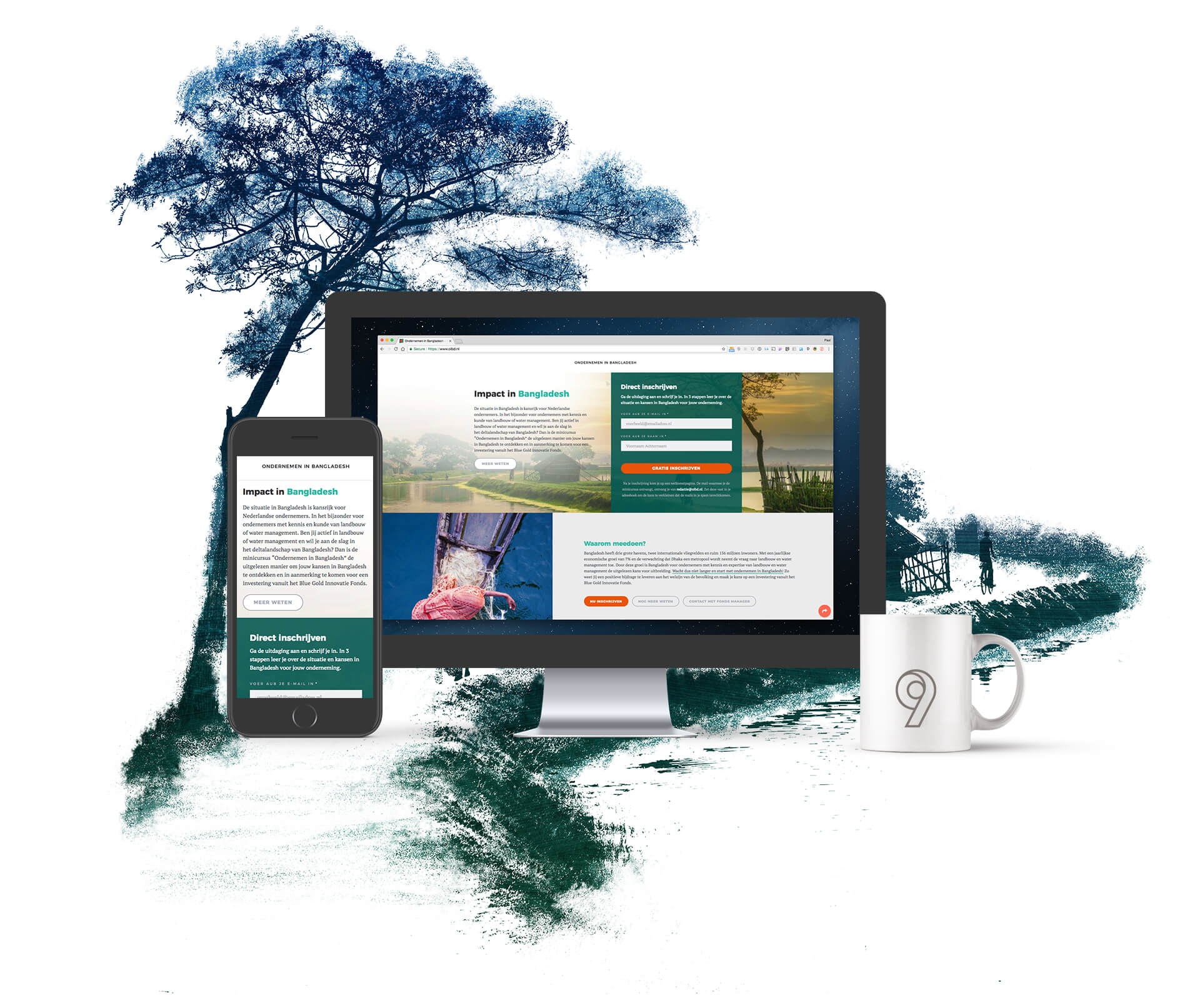 Ondernemen in Bangladesh Mockup website