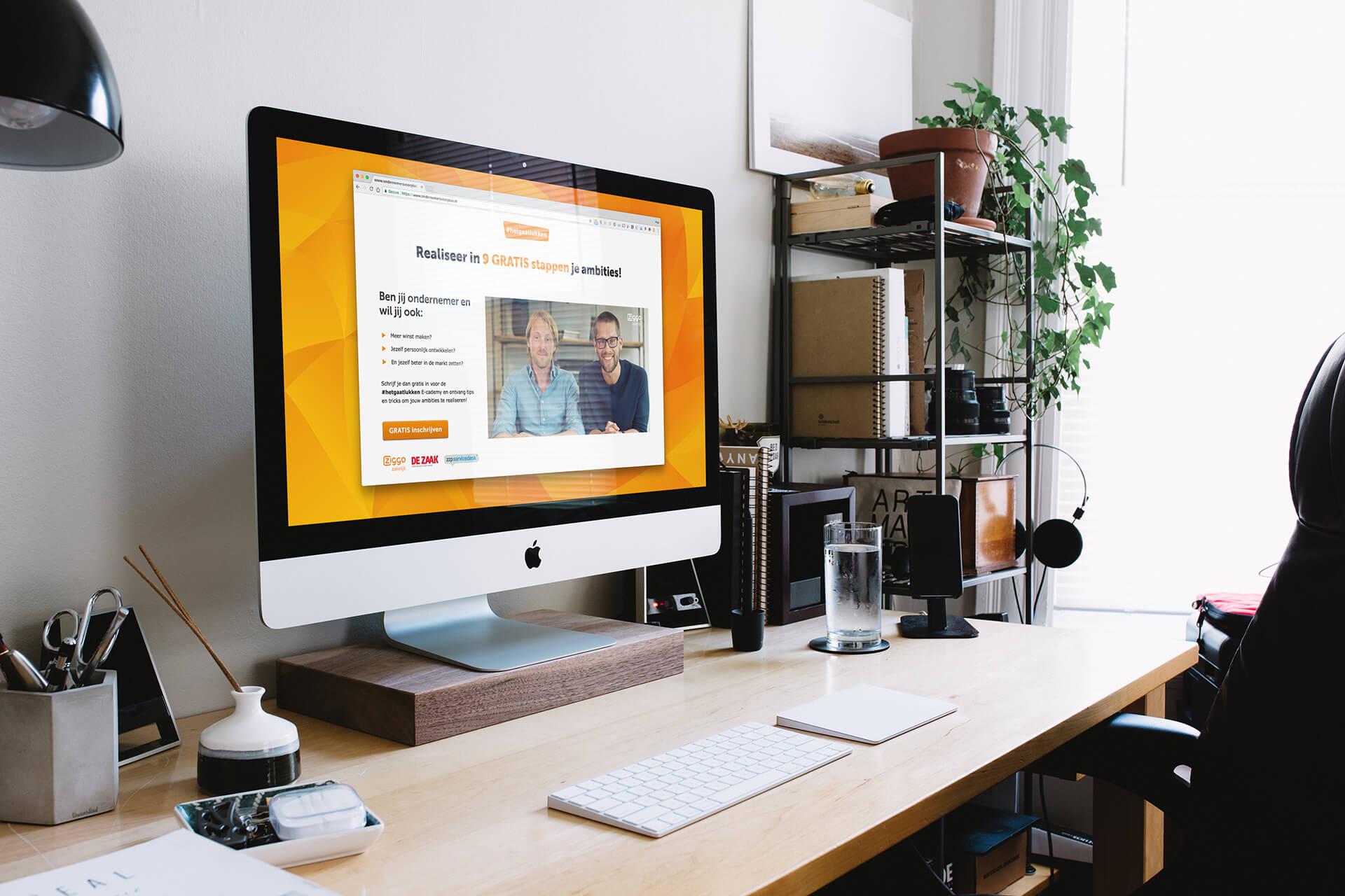 Ziggo Hetgaatlukken mockup website