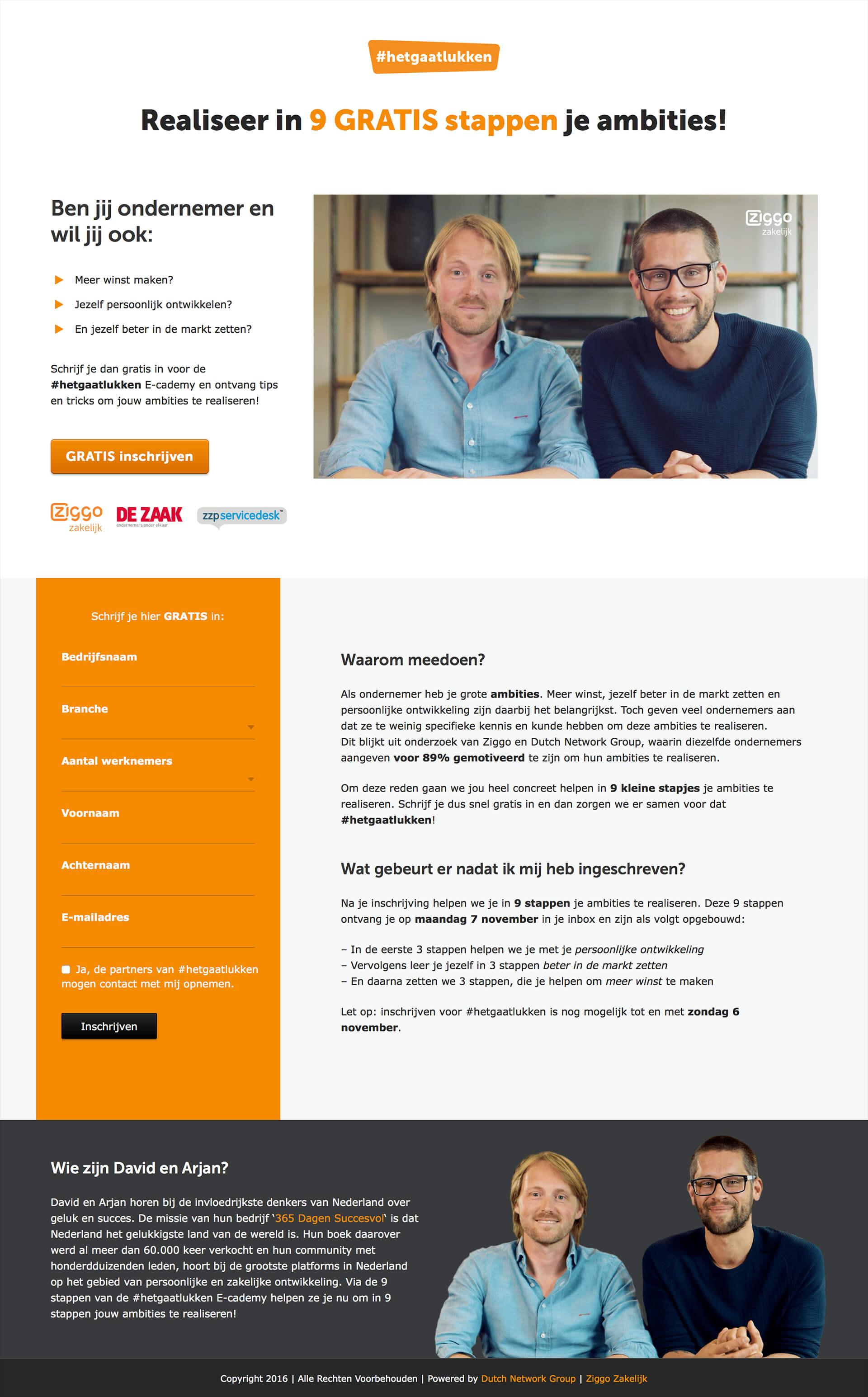 Ziggo Hetgaatlukken concept website