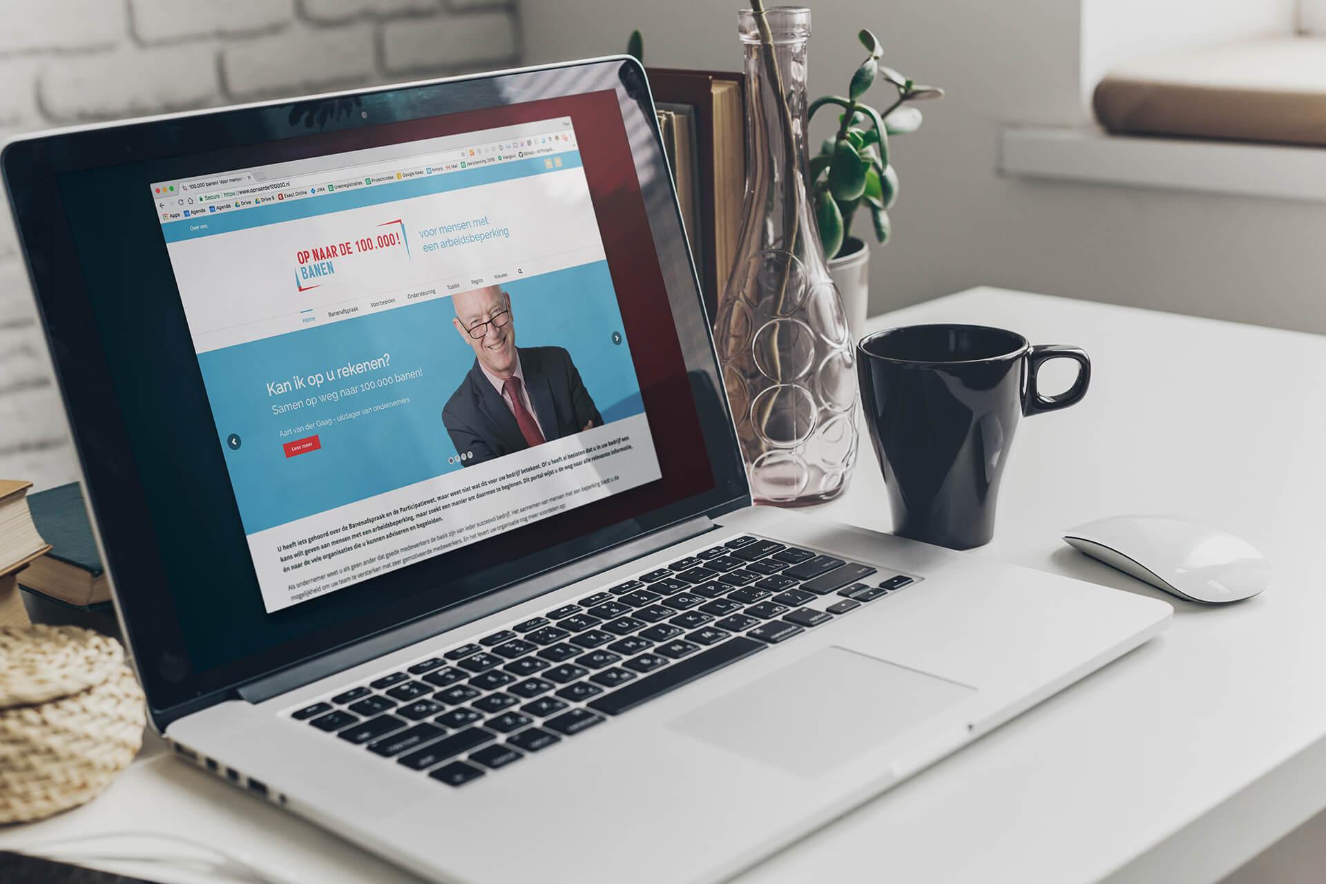 Op naar de 100000 banen website