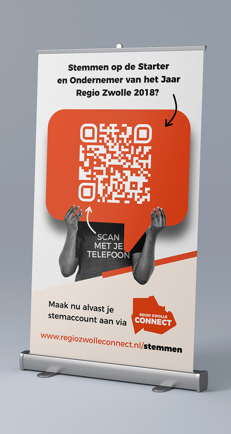 Regio Zwolle Connect Roll up Banner